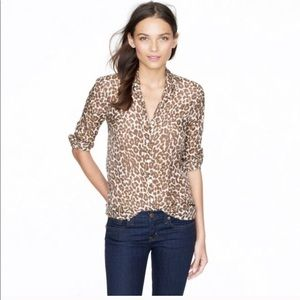 J Crew The Perfect Shirt in Leopard print.